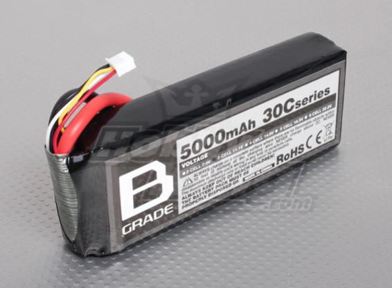 B-Grade 5000mAh 3S 30C LiPoly Battery