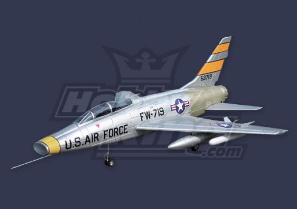 F-100 Super Sabre EDF Jet Kit w / o Motor en ESC (EPO)