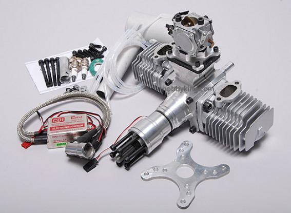 FTL 100cc Flat-Twin motor Gas w / CD-Ignition