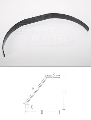 Carbon Fiber landingsgestel (50cc grootte)