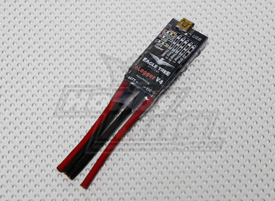 EagleTree MicroPower E-Logger V4 met Wire Leads, 80Volts, 100 Ampère (US Warehouse)