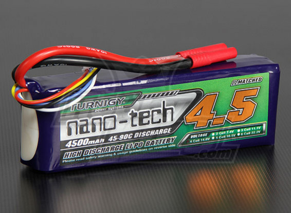 Turnigy nano-tech 4500mAh 4S 45 Pack Lipo ~ 90C