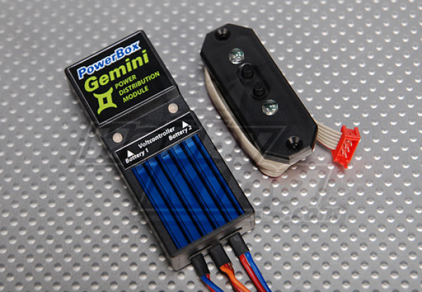PowerBox Gemini JR w / Sensor Switch