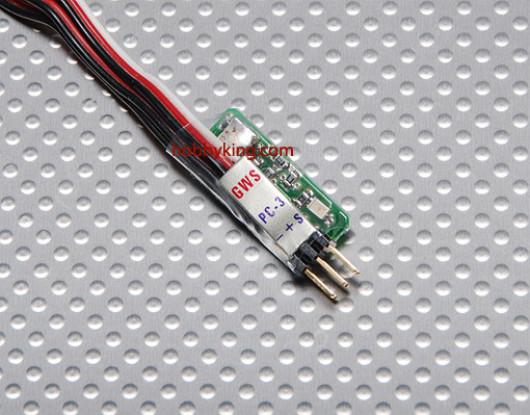 GWS PC-03 Pass-con-unit voor piezo Gyro / JR