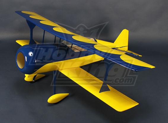 HobbyKing® ™ Pitts-S12 Python (geel / blauw) EP 1370mm (ARF)