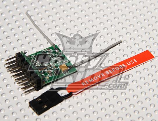 DSM2 Compatible parkflyer 2.4Ghz ontvanger (V2.0)
