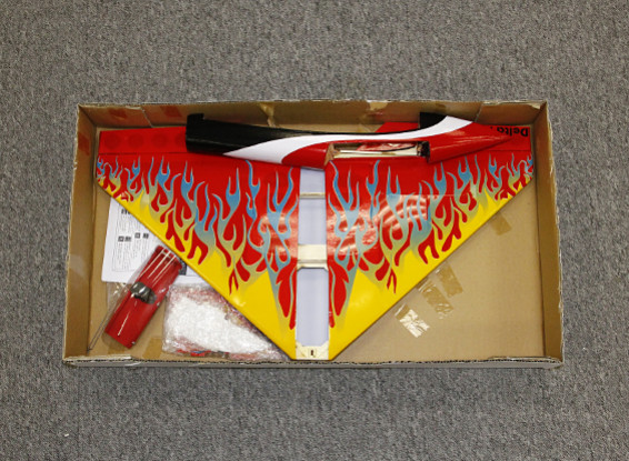 Kras / DENT - Delta Rocket High Speed Wing - Red 640mm (ARF)