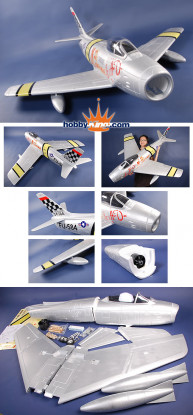 Sabre F-86 Mig Killer 1420mm EPS Foam kit (donkerblauw)