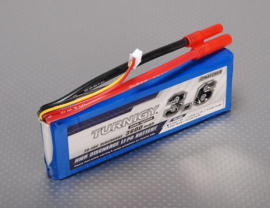 Pack Turnigy 3600mAh 2S 30C Lipo