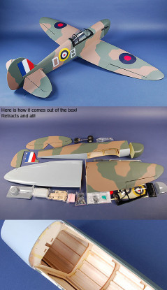 TM Spitfire 0,60 ARF (90% voltooid)