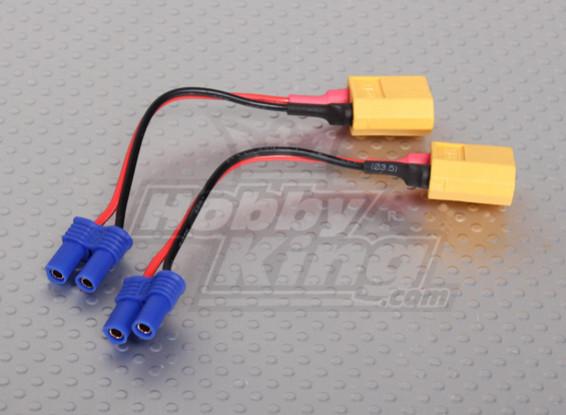 XT60 EC2 Losi Battery Adapter (2 stuks / zak)