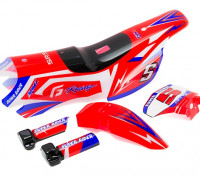 Body Shell Sets (Red) - Super Rider SR4 SR5 1/4 Scale Brushless RC Motorcycle