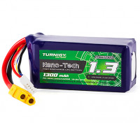 Turnigy Nano-Tech 1300mAh 4S 70C Lipo Pack w/XT60 (HR Technology)