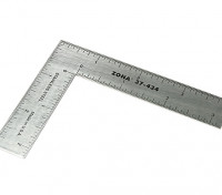 "Zona Precision 3 ""x 4"" Stainless Steel L-plein Ruler"