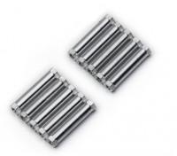 Lichtgewicht Aluminium Ronde Sectie Spacer M3x25mm (zilver) (10st)