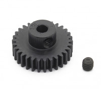 Robinson Racing zwart geanodiseerd aluminium Pinion Gear 48 Pitch 30T