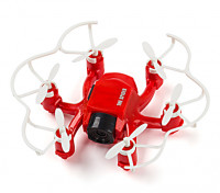SPIDER MINI DRONE 4CH 6 AXIS GYRO 3D FLY RC HEXACOPTER met 2MP HD CAMERA (Rood)