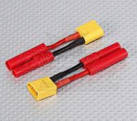 XT-60 tot HXT 4mm Battery Adapter Lead (2pc)
