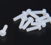 M3x10 Nylon Schroeven (10st / bag)