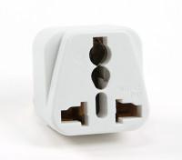 Turnigy WD-010 Fused 13 Amp Netschakelaars Multi Adapter-White (India Plug)