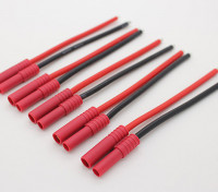 HXT4mm w / 12AWG Silicon Wire 10cm (Battery Side) (5pcs / Bag)