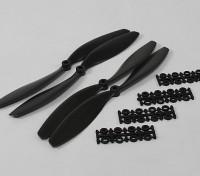 HobbyKing Slowfly Propeller 10x4.5 Black (CW / CCW) (4 stuks)
