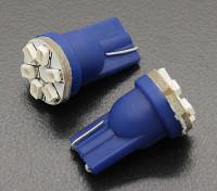 LED Corn Light 12V 0.9W (6 LED) - Blauw (2 stuks)