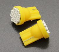 LED Corn Light 12V 1.5W (10 LED) - Geel (2 stuks)