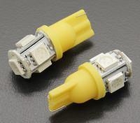 LED Corn Light 12V 1.0W (5 LED) - Geel (2 stuks)