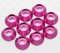 Sockethead Washer geanodiseerd aluminium M3 (Cherry Red) (10st)