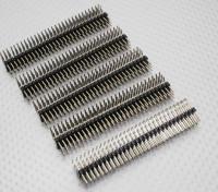 90 graden Pin Header 3 Row 30 Pin 2.54mm Pitch (5PCS)