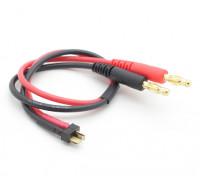 Mini T-Connector Charge Lead W / 4mm Banana Plugs