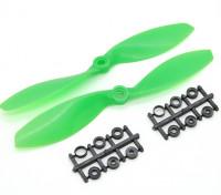 Hobbyking ™ Propeller 7x3.8 Green (CW / CCW) (2 stuks)