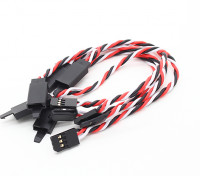 Twisted 15cm Servo Lead Extention (Futaba) met haak 22AWG (5pcs / bag)