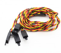 Twisted 45cm Servo Lead Extention (JR) met haak 22AWG (5pcs / bag)