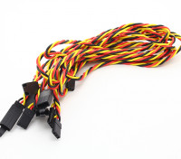 Twisted 60cm Servo Lead Extention (JR) met haak 22AWG (5pcs / bag)