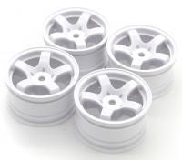 Sweep Mini 5 Spoke Wheel Type A - White (4 stuks)