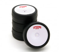 Ride Pre-gelijmd 1/10 Touring Car Tire - Revolution High Grip gordelbanden Re25 w / Foam Insert (4 stuks)