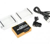 Turnigy 3,7 V 1100mAh batterij Rugzak voor GoPro Hero 4 Series