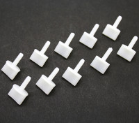 Nylon Thumb Schroeven M4 x 12mm White (10pc)