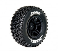 LOUISE SC-HUMMER 1/10 Scale Truck Tires Soft Compound / zwarte rand (Voor LOSI TEN-SCTE 4X4) / Mounted