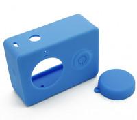 Beschermhoes en lensdop voor Xiaoyi Action Camera (blauw)