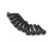 Metal Socket Head Machine Hex Screw M2.5x8-10 stuks / set