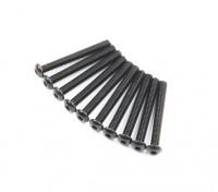 Metal Round Head Machine Hex Screw M2.6x22-10pcs / set