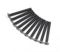 Metal platte kop Machine Hex Screw M3x26-10pcs / set