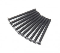 Metal platte kop Machine Hex Screw M3x36-10pcs / set