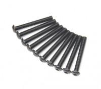 Metal Round Head Machine Hex Screw M3x24-10pcs / set