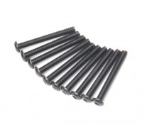 Metal Round Head Machine Hex Screw M3x26-10pcs / set