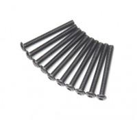 Metal Round Head Machine Hex Screw M3x28-10pcs / set