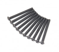 Metal Round Head Machine Hex Screw M3x30-10pcs / set